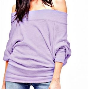 FREE PEOPLE Palisades Off The Shoulder Top Lilac